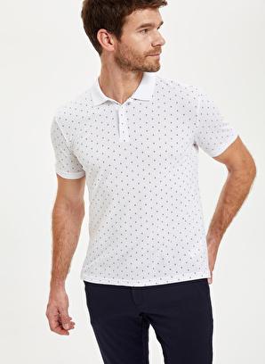 DeFacto Baskılı Polo Yaka Slim Fit Pike Tişört